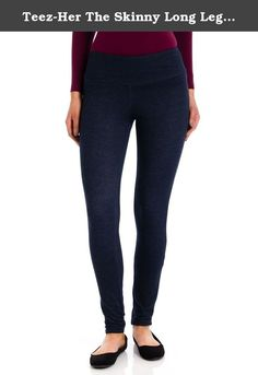 Teez-Her The Skinny Long Legging, Denim, XLarge. Show off a thinner new you when wearing this Teez-Her The Skinny Long Legging. It's an everyday pant that you can use from work to workout. Product Features: Long legging Invisible mesh panel smoothes your tummy Smoothes and slims in a instant Tagless Stretch fabric holds you in all over Breathable stretch-cotton fabric for a seemless smoothing look 29 inch inseam Ships to USA only Body: 67% cotton, 28% polyester, 5% spandex Mesh: 90% nylon...