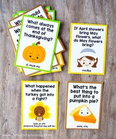 Free Printable Thanksgiving Lunch Box Jokes