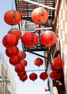 lanterns, Chinatown