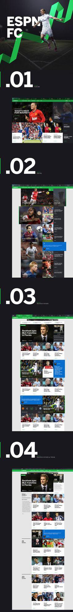 ESPN FC dot com on Behance