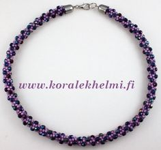 Necklace made of Toho seed beads and Czech Fire polished beads. Kumihimo is fun..