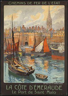 La côte d'Emeraude à Saint-Malo  (Chemin de fer de l'Etat Poster)