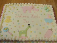 Baby Shower Sheet Cake Ideas | Baby Shower Cakes :: Clothesline For A Boy  Picture By DicksBakery ... | Baby Gifts | Pinterest | Baby Shower Sheet  Cakes, ...