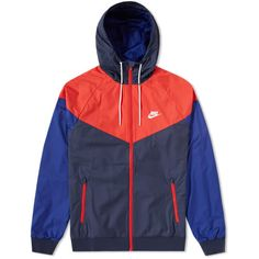Nike Windrunner Jacket ($85) ❤ liked on Polyvore featuring activewear, activewear jackets, nike sportswear, nike activewear, nike and athletic sportswear