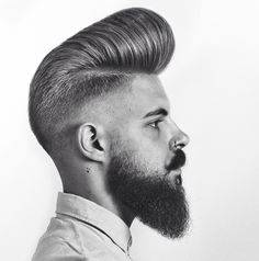 Best Pompadour hairstyles and haircut.Stylish,slick back,high fade, short, long hair pompadour hairstyles for men 2020 Pompadour Style, Modern Pompadour, Pompadour Fade, Hair Men Style, Hair And Beard Styles, Long Hair Styles, Cool Mens Haircuts, Stylish Haircuts, Modern Haircuts