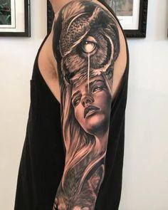 Half And Full Sleeve Tattoos, Kali Tattoo, Buddha Tattoo Design, Australian Tattoo, Tattoo Videos, Dark Art Drawings, Tattoo Flash Art, Realism Tattoo, Shoulder Tattoo