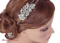 Wedding Headband Pearl Rhinestone headband by RomantiqueStudio