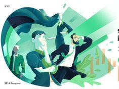 ui ux illustration by Liangyujia on Dribbble Flat Illustration, Red Cross, Ui Ux, Art Boards, Vector Art, Doodle, Illustrator, Character Design, Design Inspiration