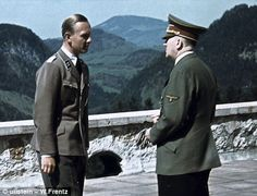 Right-hand man: Adolf Hitler and adjutant Fritz Darges, who wrote the memoirs, are pictured on the terrace of Berghof, the dictator's Bavarian mountain retreat But he insisted it could not be published until after his death.