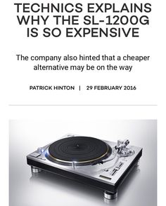 """Check out @mixmagmagazine for the complete story as to why the new @technicsturntables is so expensive and could there be a cheaper priced one on the way?: """"The cost was the biggest problem for us from the start of the project. Because the original 1210 turntables were manufactured for so many years the manufacturing process had got to a very low cost. Now we need to invest in all the tools again and the price now is much higher than the 1970s. """"We began to study just a few months prior to…"""