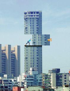 世界のクリエイティブなビルディング広告21選 | AdGang
