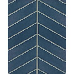Grayson Martin Park Place Chevron x Porcelain Field Tile in Dark Blue Chevron Bathroom, Bathroom Floor Tiles, Wall Tiles, Bathroom Wall, Chevron Floor, Blue Floor, Ceramic Mosaic Tile, Stone Mosaic Tile, Wood