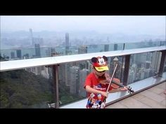 Concerto No. 5 in D Major, Op. 22, 3rd Mvt by F. Seitz; After 2 weeks of daily rain, we found a day to enjoy the clear view of Hong Kong from The Peak before it started to rain again for the rest of our stay. See more of this young violinist #from_UnknownEntity0