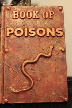 Book of Poisons Spell Book by ShadesofHeather on Etsy