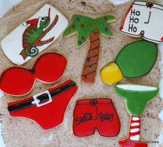Caribbean Beach Christmas Caribbean Christmas, Summer Christmas, Tropical Christmas, Christmas Sweets, Christmas Cookies, Christmas Ideas, Holiday Treats, Holiday Parties, Holiday Fun