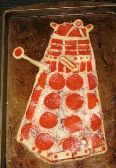 I guess you could say that this pizza is............*puts on sunglasses* dalektable. YEEEEEEAAAAAHHHH!!!!