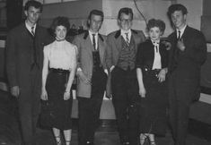 A Group of Deeside Teddy Boys and Girls at the Tower Ballroom, New Brighton, Cheshire in the Mid 1950s