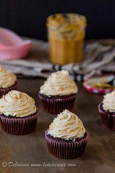 Cupcake Recipes : Double Chocolate Dulce De Leche Cupcakes