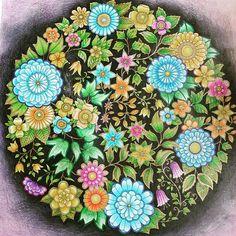 Instagram media gulcincar - #esrarengizbahçe #sari #yeşil #mavi #turuncu #mor #hobi #gizliorman #paint #siyah #çiçek #