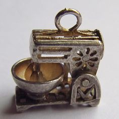 Sterling Silver Charm Food Mixer Vintage