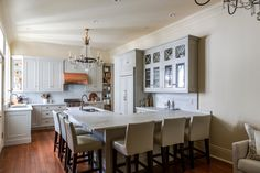 Nice open kitchen with wrap-around bar/counter