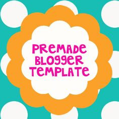 Teal Dots Blogger Template. $9.94, via Etsy.