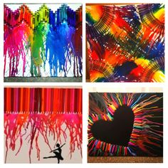 Crayon melting art  I could do this to raise money :)