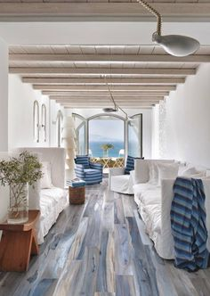White-washed blue floors #LGLimitlessDesign #Contest