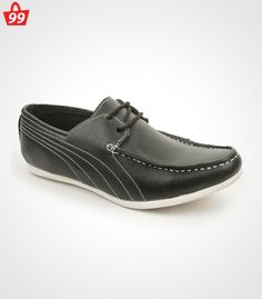 Step in #Style with ultimate pick of this season when you adorn this pair of Bacca Bucci Faux Leather Black Casual Shoes