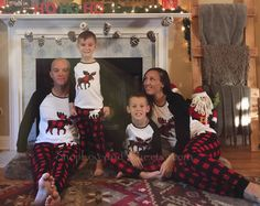 Items similar to Personalized with name - Christmas family matching buffalo  plaid moose holiday pajamas flannel long sleeve adult kids toddler and baby  ... 9807d717a