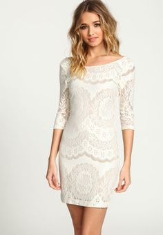 Lacy Knit Scoopback Bodycon Dress - LoveCulture