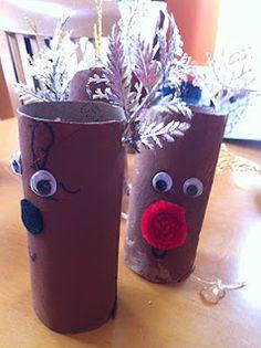 toilet paper roll reindeer craft ~ diy for kids ~ christmas ~ Kinda Like A Turtle
