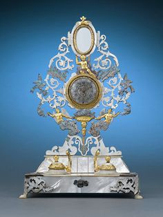 Antique Objet d'Art, Palais Royal, Mother-of-Pearl Inkwell and Watch Holder ~ M.S. Rau Antiques