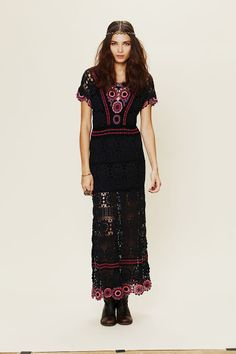 Crochet maxi dress from Free People.