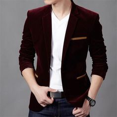 Casual Slim Fit Masculine Blazer | Furrple