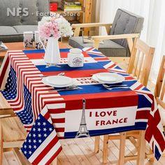 中国 アメリカフラグテーブルクロス 卸売業者からのオンライン 卸値で ... ホーム装飾厚みのキャンバステーブルクロス5サイズ米国旗プリントテーブルクロスニーステーブル