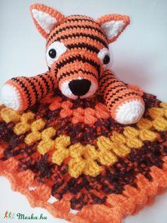 Meska - Tigrincs szundikendő - horgolt Galagonyatanya kézművestől Teddy Bear, Toys, Animals, Activity Toys, Animales, Animaux, Toy, Teddy Bears, Animal Memes