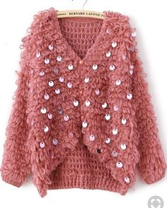 crochet dress outfits rg kili Laleli Modelli Bayan Yelek Tarifi ve Grdnz Greceiniz 129 Tane Gurur Duyulas Birbirinden Gzel rg Modelleri. T rgler ve i rglerin yan sra Yeni greceini Crochet Dress Outfits, Crochet Clothes, Crochet Jacket, Knit Crochet, Pink Sequin, Coral Pink, Red Sweaters, Look Fashion, Dress To Impress