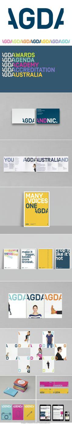 Australian Graphic Design Association brand update by Interbrand