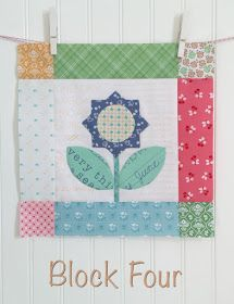 Bee In My Bonnet: BLOOM Sew Along - Week Four - Block Four!! Small Quilts, Mini Quilts, Baby Quilts, Farmers Wife Quilt, Bee In My Bonnet, Star Quilt Blocks, Flower Quilts, Doll Quilt, Girls Quilts