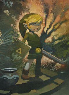 Legond of Zelda, Link Art by Christopher Stevens
