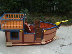 Oneofakind CustomBuilt Pirate Ship Play House by FurnitureAndPlay, $2800.00