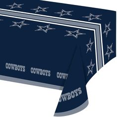 NFL 54 x 102 Plastic Tablecover All Over Print Dallas Cowboys/Case of 12