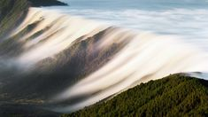 Waterfall of clouds in Cumbre Nueva mountains, La Palma, Canary Islands, Spain, 5ae735f45362c30dc6b65ef972511ee1
