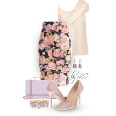 Floral Pencil Skirt by explorer-14541556185 on Polyvore featuring Cushnie Et Ochs, Fashionomics, Imagine by Vince Camuto, M2Malletier and Collette Z