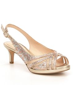 c35fb3e637d69 Shop for Alex Marie Maddeli Shimmer Rhinestone Detail Peep-Toe Pumps at  Dillards.com · Kitten Heel Wedding ...