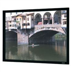 "Da-Lite Imager Black Fixed Frame Projection Screen Viewing Area: 57.5"" H x 77"" W"