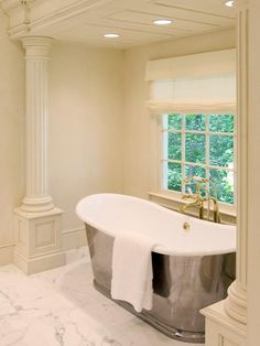 The modern luxury bath comes in all sizes and styles. Freestanding soaking tubs are hot, as are showering systems that offer a full range of spa functions. Complete the look with gorgeous materials like marble, bronze and natural stone.