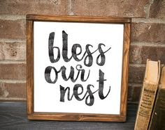Bless our Nest Our Nest Home Sweet Home by WoodenThatBeSomethin