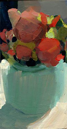 "LISA DARIA ""All Day"" still life, acrylic, 4""x8"""